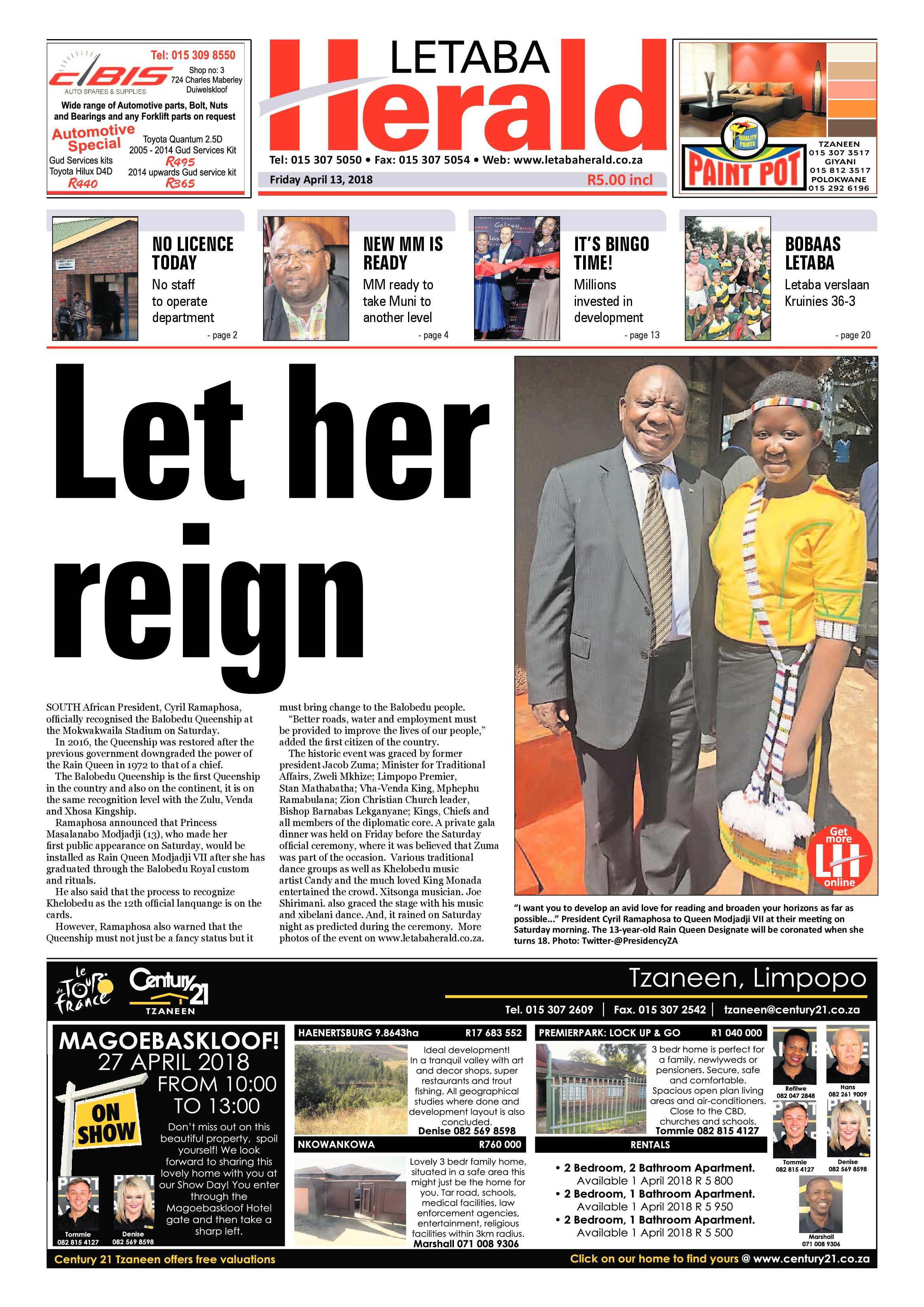 Letaba Herald – 13 April 2018